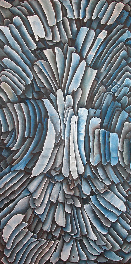 Blue Painting - Layers CXVI by Diana Durr