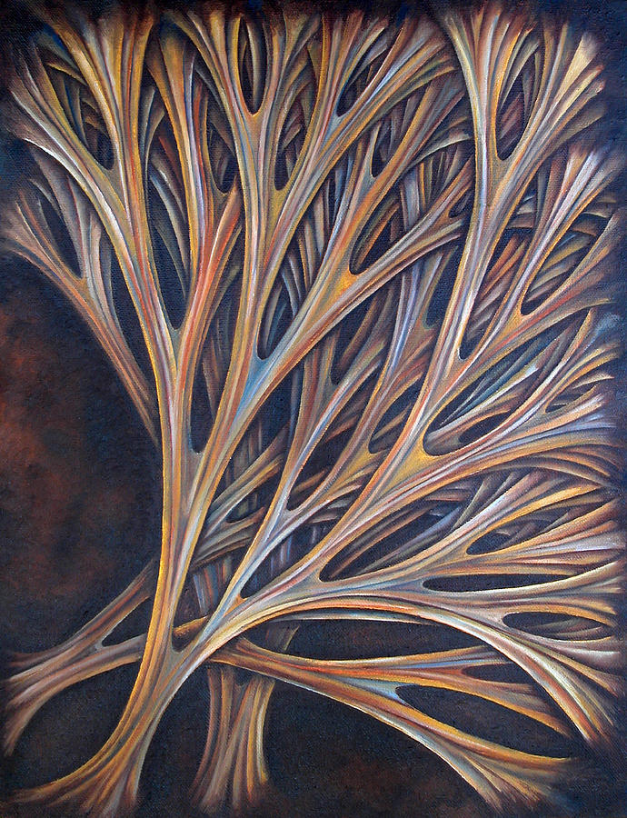 Brown Painting - Layers Cxvii by Diana Durr