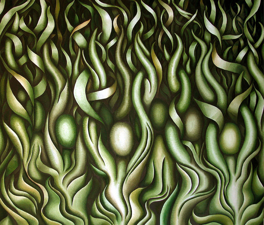 Green Painting - Layers LIX by Diana Durr