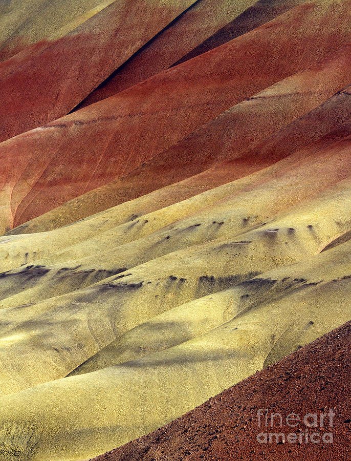 Folds Photograph - Layers Of Red by Mike  Dawson