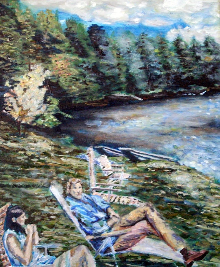 Landscape Painting - Lazy Day On The Mill Pond by Denny Morreale