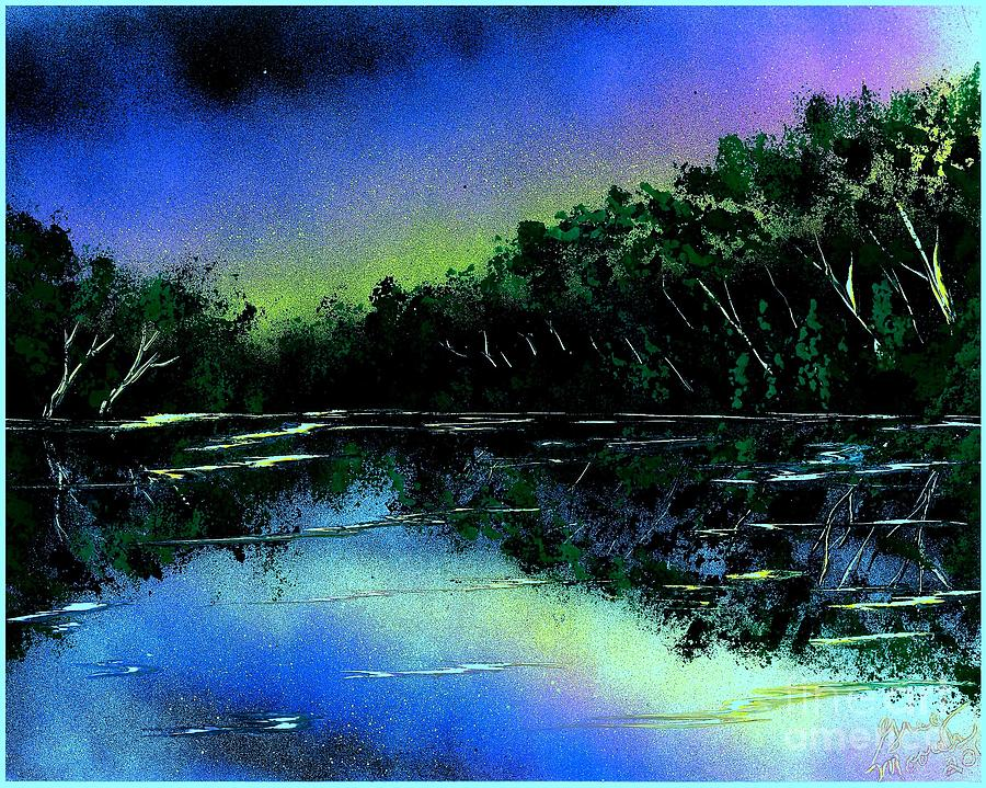 River Painting - Lazy River by Greg Moores
