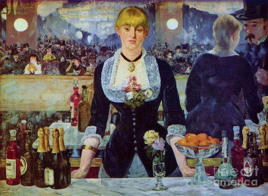 Pd Painting - Le Bar Des Folies-bergere by Pg Reproductions