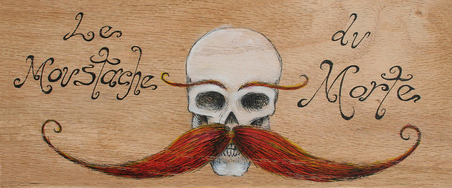 Skull Painting - Le Mustache Du Morte by Canis Canon