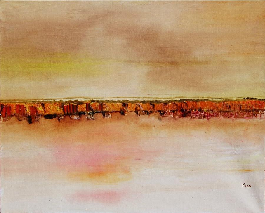 Abstract Painting - Le Rythme Du Silence by Mona Roussette