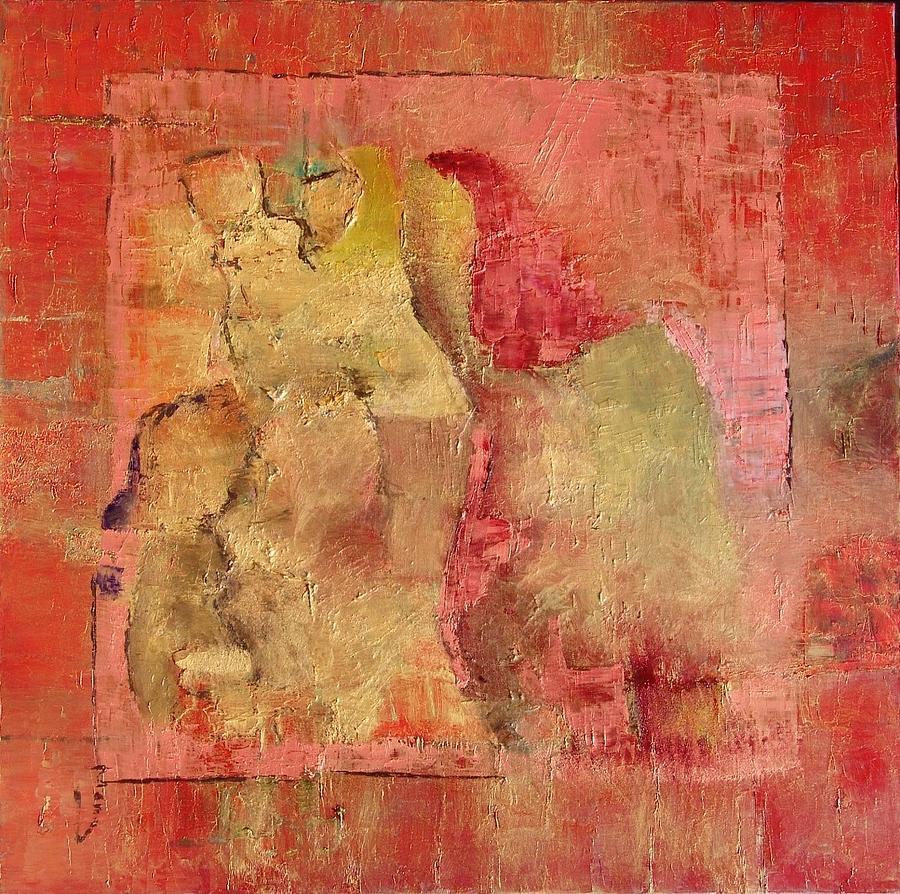 Figurative Painting - Le Rythme Social by Mona Roussette