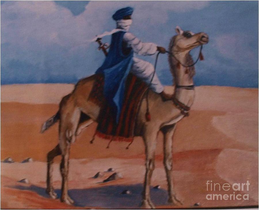 Camel Painting - Le Seigneur Des Sables by Jean Pierre Bergoeing
