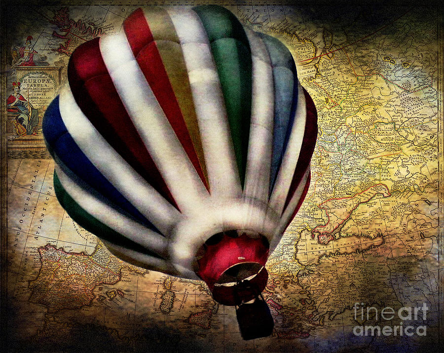 Balloon Photograph - Le Tour Du Monde by Colleen Kammerer