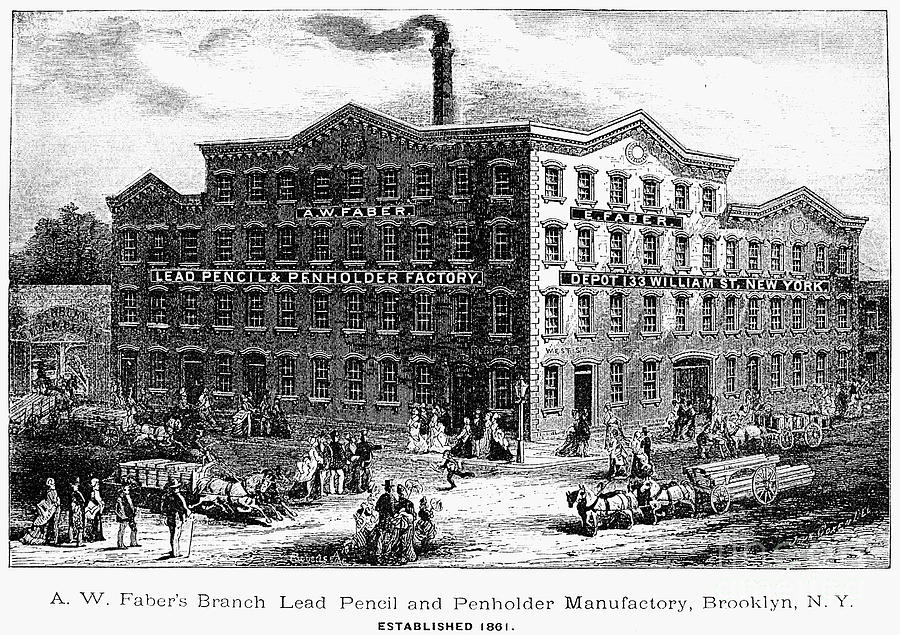 1876 Photograph - Lead Pencil Factory by Granger