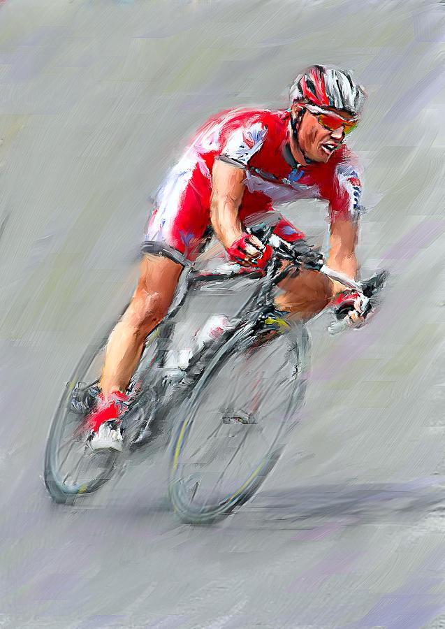 Bicycle Digital Art - Leader Of Bike Ride by Yury Malkov