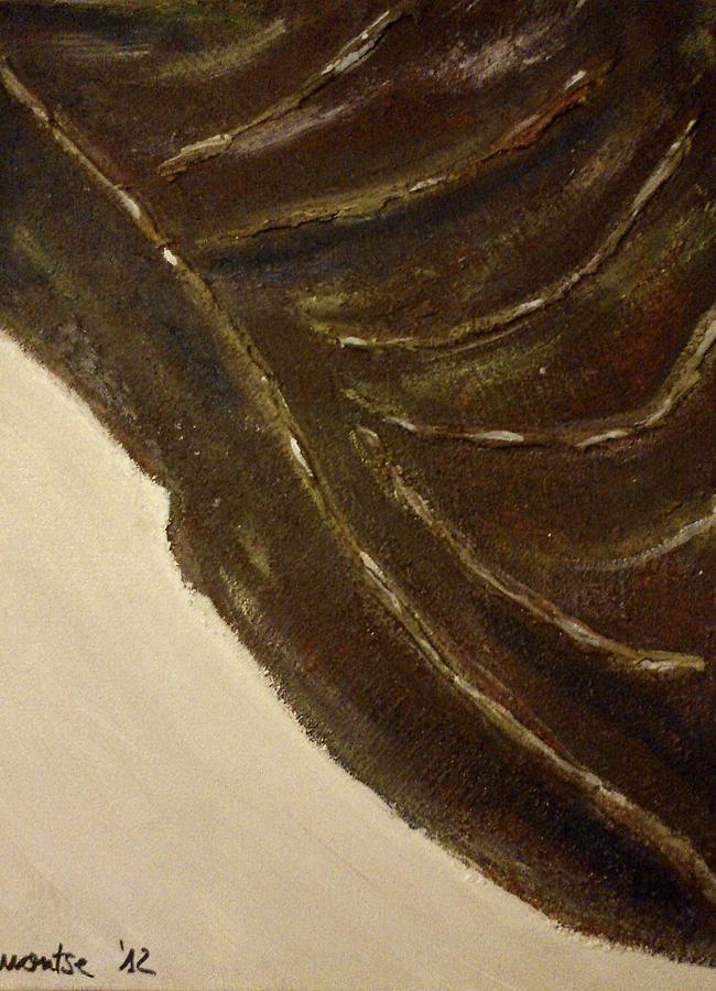 Autumn Painting - Leaf by Montserrat Lopez Ortiz