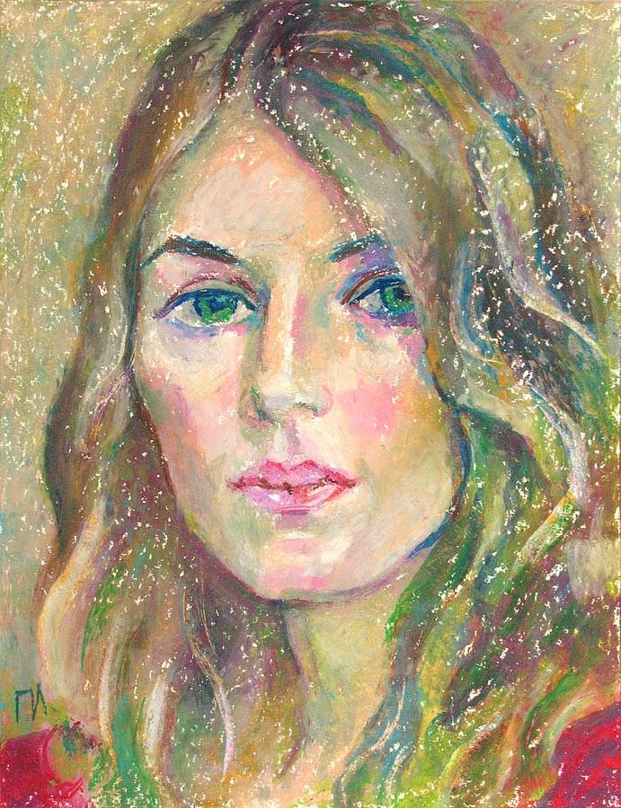 Paper Painting - Leah Molina by Leonid Petrushin