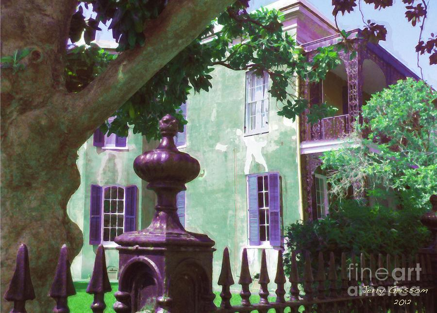 Leathers Mansion Lower Garden District Painting by Jerry Grissom