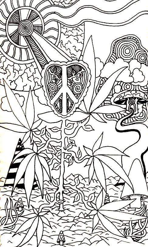 marijuana leaf coloring pages - leaves drawing by andrew padula