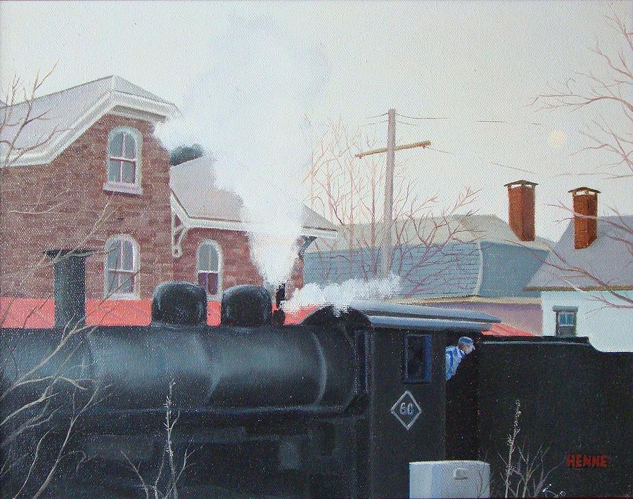 Lambertville Painting - Leaving The Station by Robert Henne