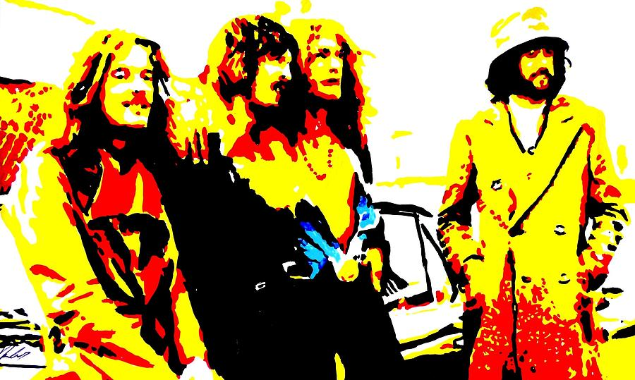 Musicians  Paintings Painting - Led Zeppelin by Paula Sharlea