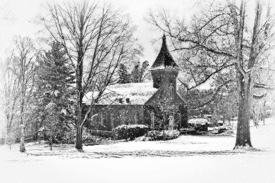 Lee Chapel Photograph - Lee Chapel February 2012 Series II by Kathy Jennings