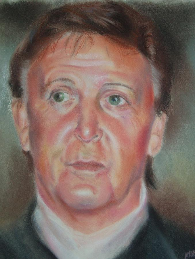Paul Mccartney Pastel - Legend by Joanna Gates