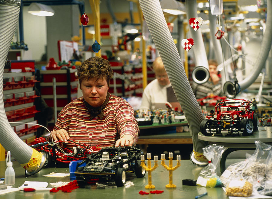 Lego Photograph - Lego Construction by Volker Steger