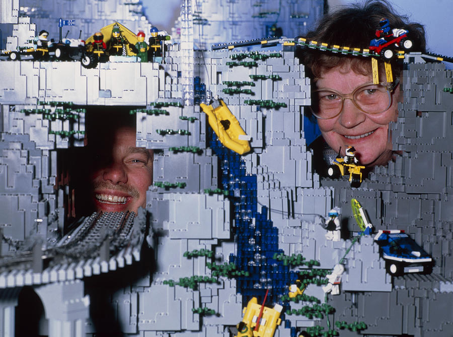 Billund Photograph - Lego Model And And Its Constructors by Volker Steger