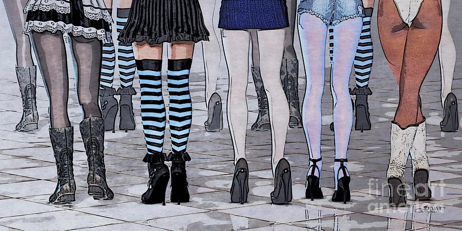 3d Digital Art - Legs by Jutta Maria Pusl