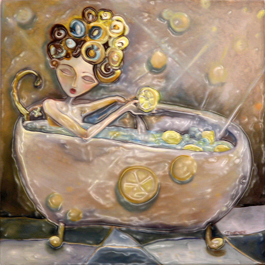 Lemon Painting   Lemon Bath By Jenna Fournier