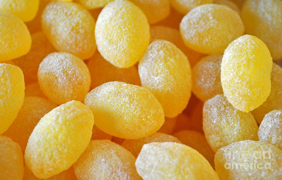 Lemon Drop Photograph - Lemon Drops by Gwyn Newcombe