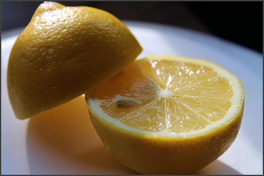Lemons Photograph - Lemon Slices by Sarah Broadmeadow-Thomas