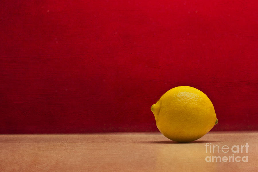 Lemon Yellow And Tomatoe Red Photograph by Catherine MacBride