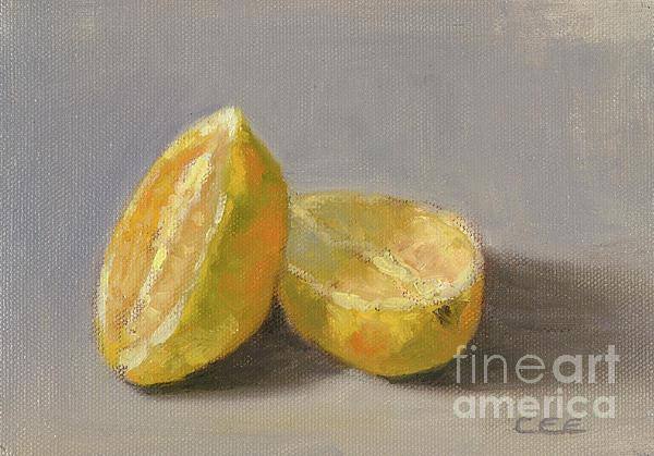 Lemons Painting - Lemons by Christa Eppinghaus