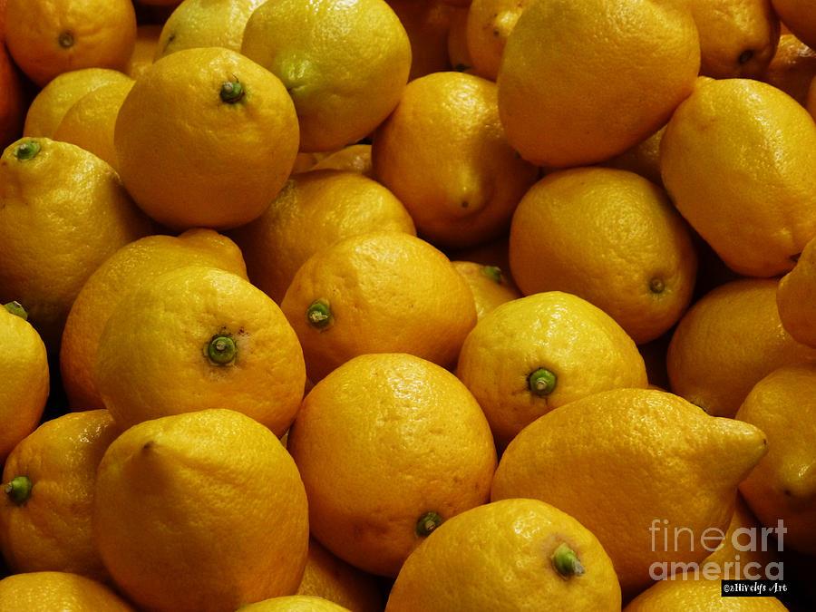 Lemons Photograph - Lemons by Methune Hively