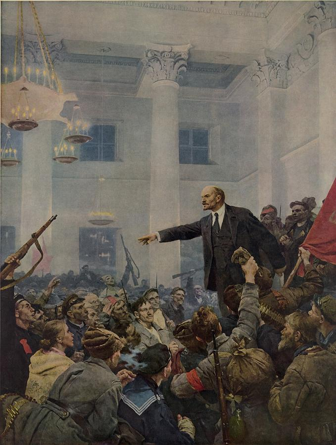 History Photograph - Lenin 1870-1924 Declaring Power by Everett