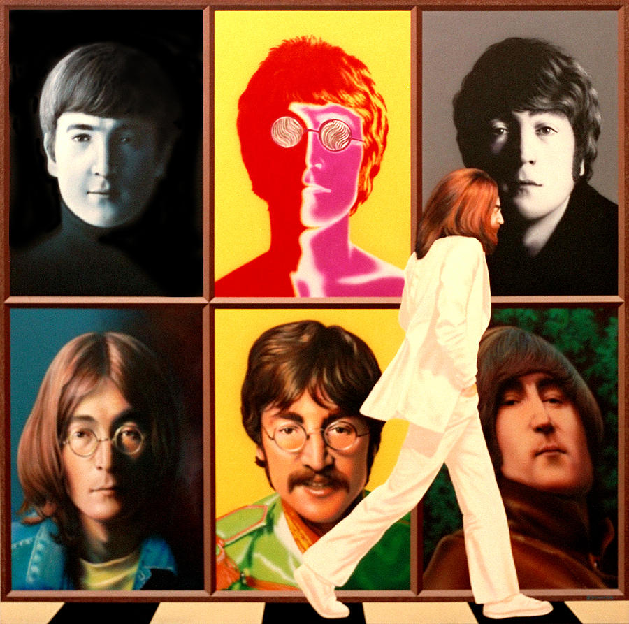 Beatles Painting - Lennon To The 7th Power by Ross Edwards
