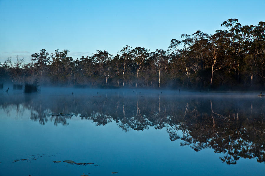 Australian Landscape Photograph - Lenthalls Dam 04 by David Barringhaus
