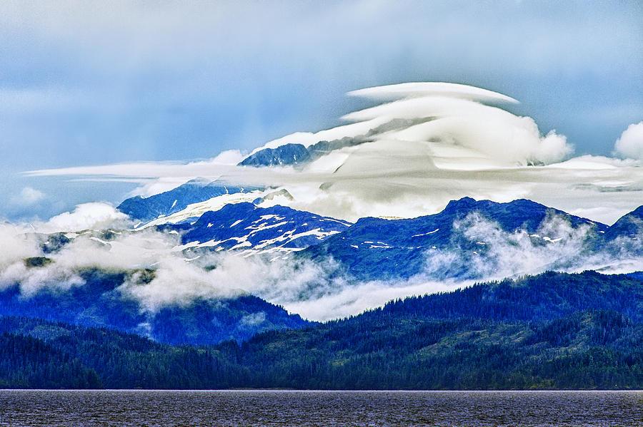 Alaska Photograph - Lenticular And The Chugach Mountains by Rick Berk