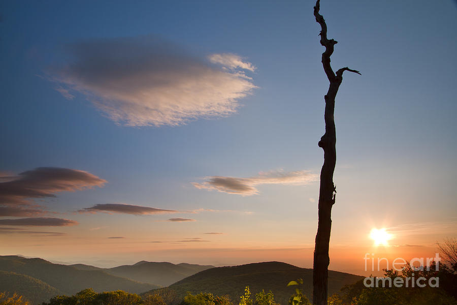 Lenticular Clouds Photograph - Lenticular Clouds Over Shenandoah National Park by Dustin K Ryan