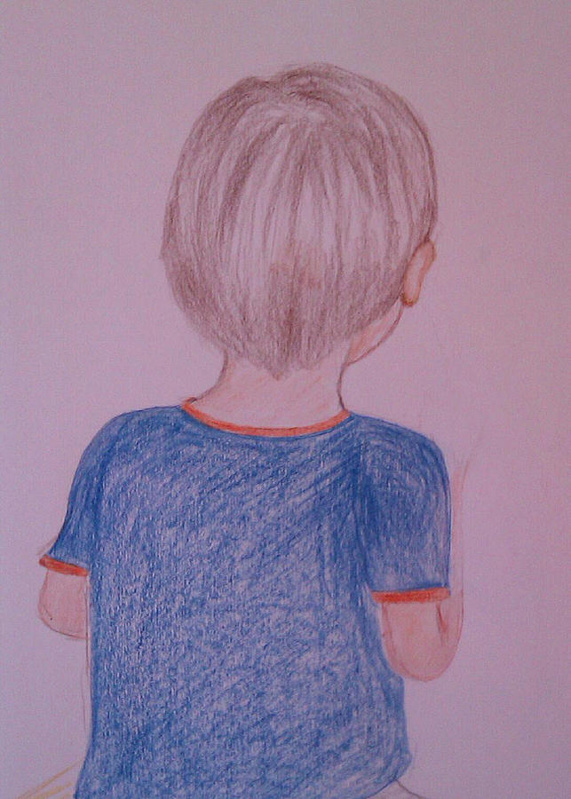 Boy Drawing - Leo by Yu Hong