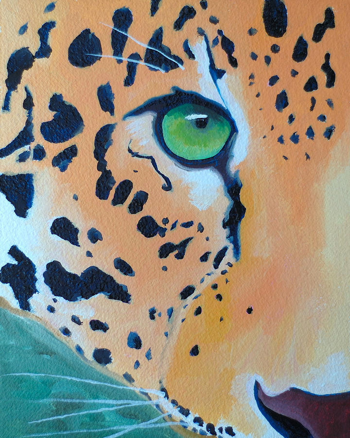 Leopard Painting - Leopard Eye by John  Sweeney
