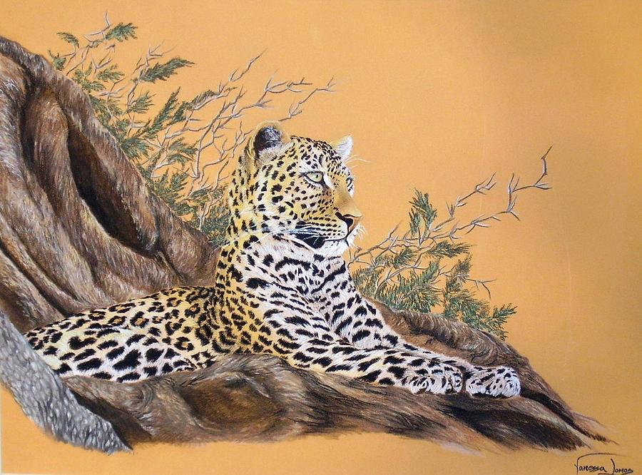 Leopard Painting - Leopard In Tree by Vanessa Lomas