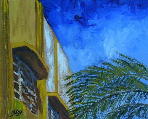 Miami Beach Painting - Lesley Hotel by Maria Soto Robbins