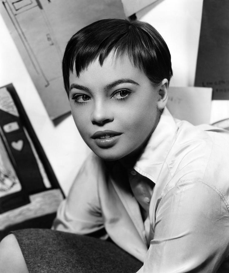 1950s Hairstyles Photograph - Leslie Caron, Ca. 1950s by Everett