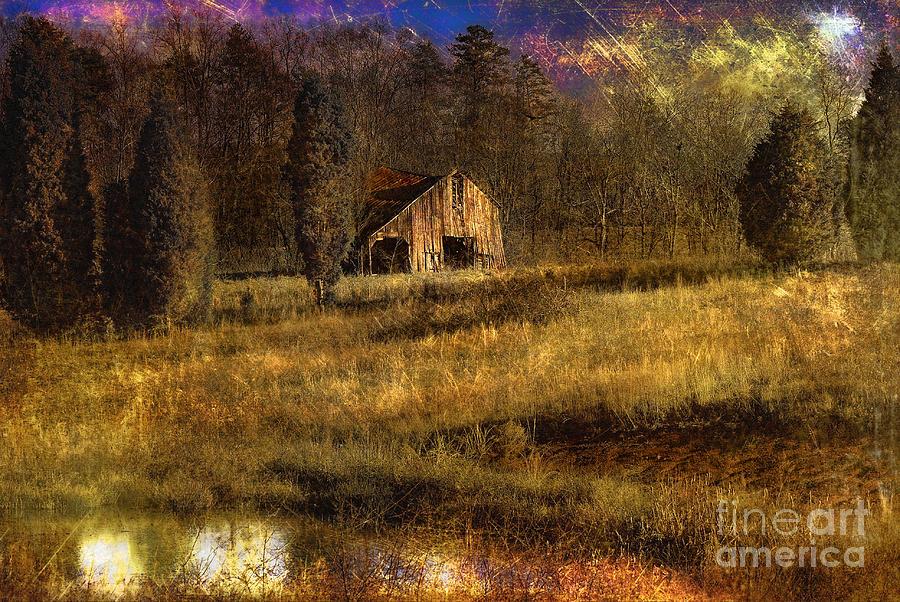 Barn Photograph - Less Than Perfect by Sari Sauls