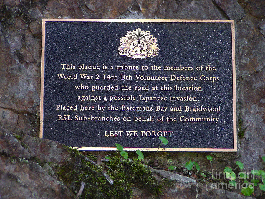 Plaque Photograph - Lest We Forget by Joanne Kocwin