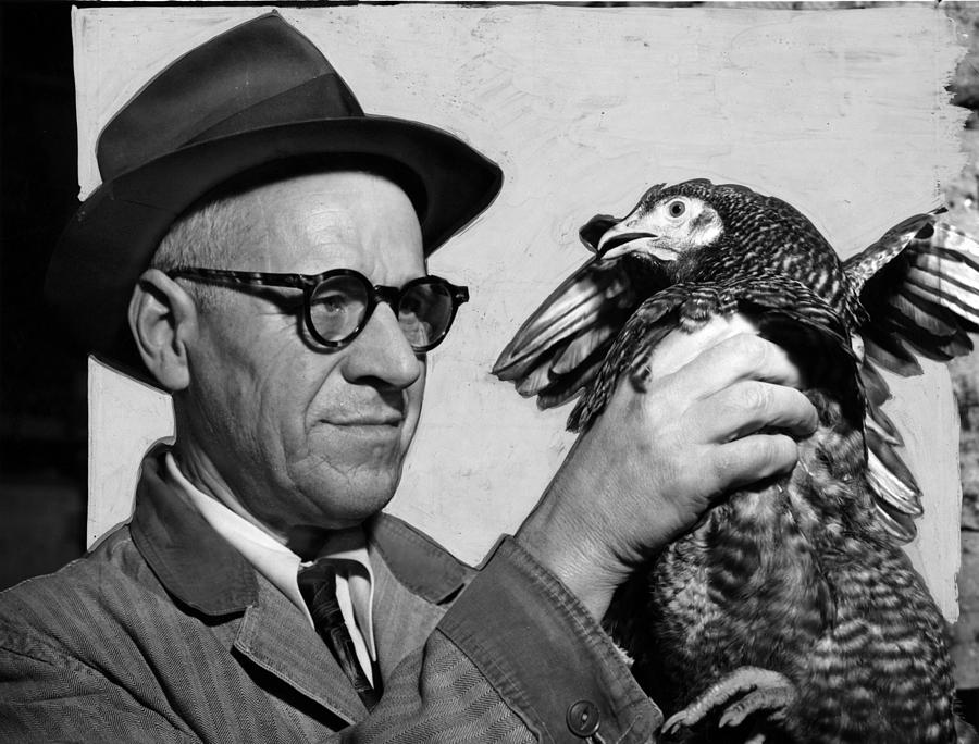1950s Candids Photograph - Lester P. W. Wehle, A Live-poultry by Everett