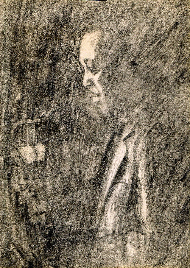 Nostalgia Drawing - Lester Young by Mel Thompson