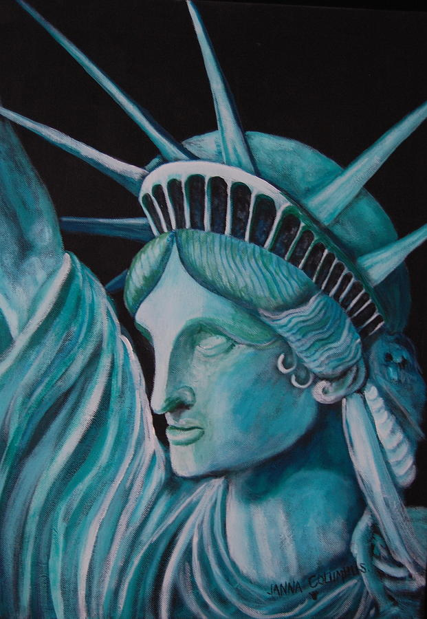 Statue Of Liberty Painting - Let Freedom Ring by Janna Columbus