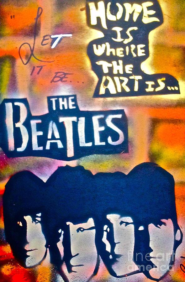 Graffiti Painting - Let it Be by Tony B Conscious