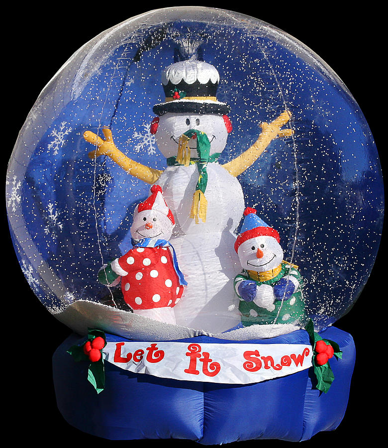Weird Photograph - Let It Snow by Christine Till