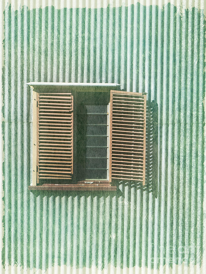 Vintage Building Photograph - Let The Light In by Linde Townsend