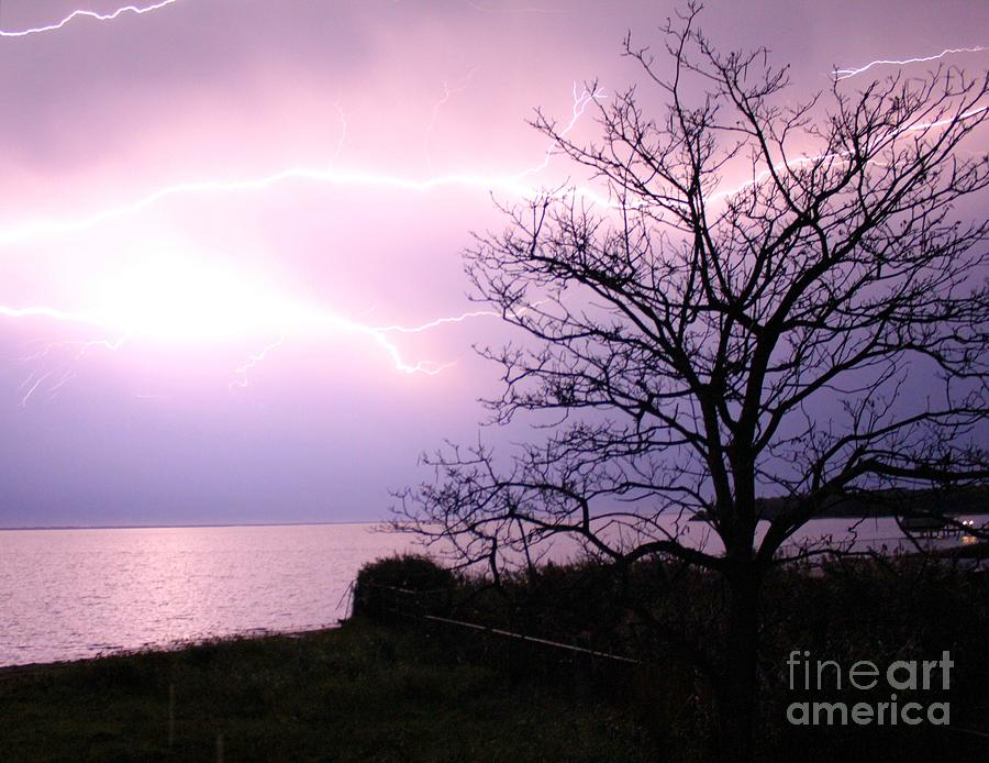 Lindenhurst Photograph - Let There Be Light-ning by Scenesational Photos